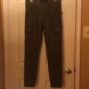 Pants - forest green jeans